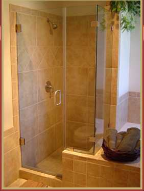 example image of installed frameless shower enclosure
