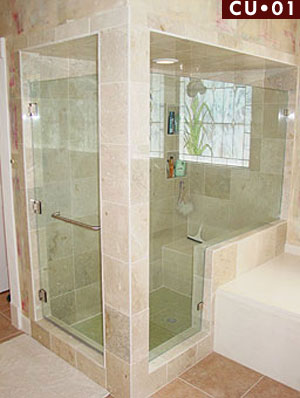frameless glass shower enclosures corner unit styles