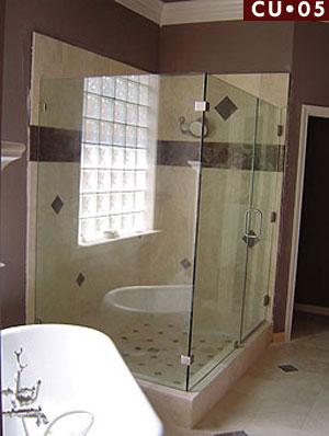 ::: Shower Doors Houston   CU 05   Corner Frameless Shower Enclosure