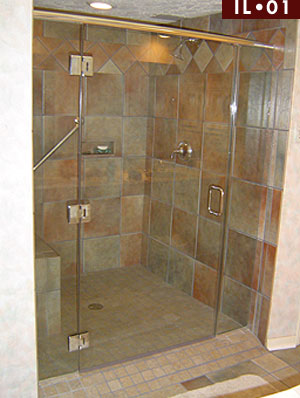 inline frameless shower enclosures glass door with inline panel model il01